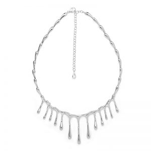 Lucy Q Sterling Silver Short Drop Necklace