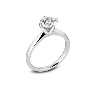 Platinum 4 Claw Diamond Ring