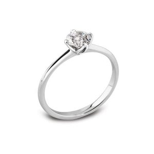 4 Claw Platinum Engagement Ring