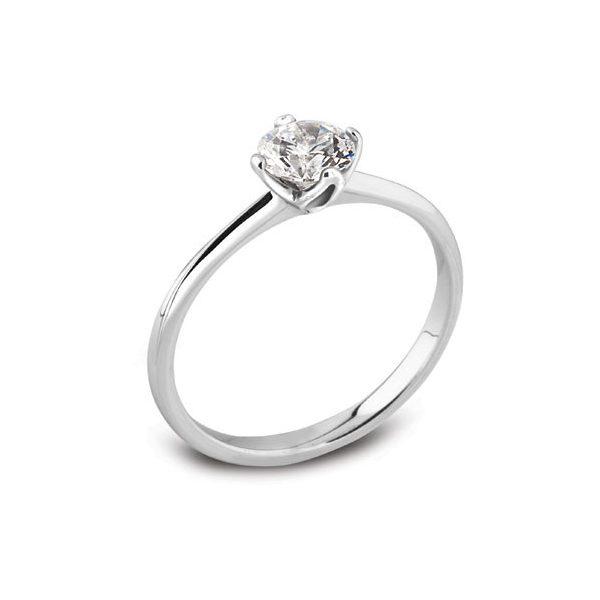 4 Claw Platinum Engagement Ring