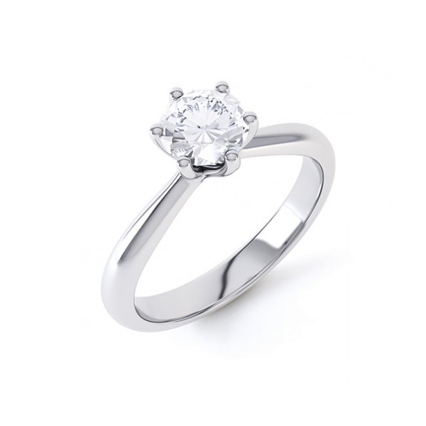 4 Claw Engagement Ring
