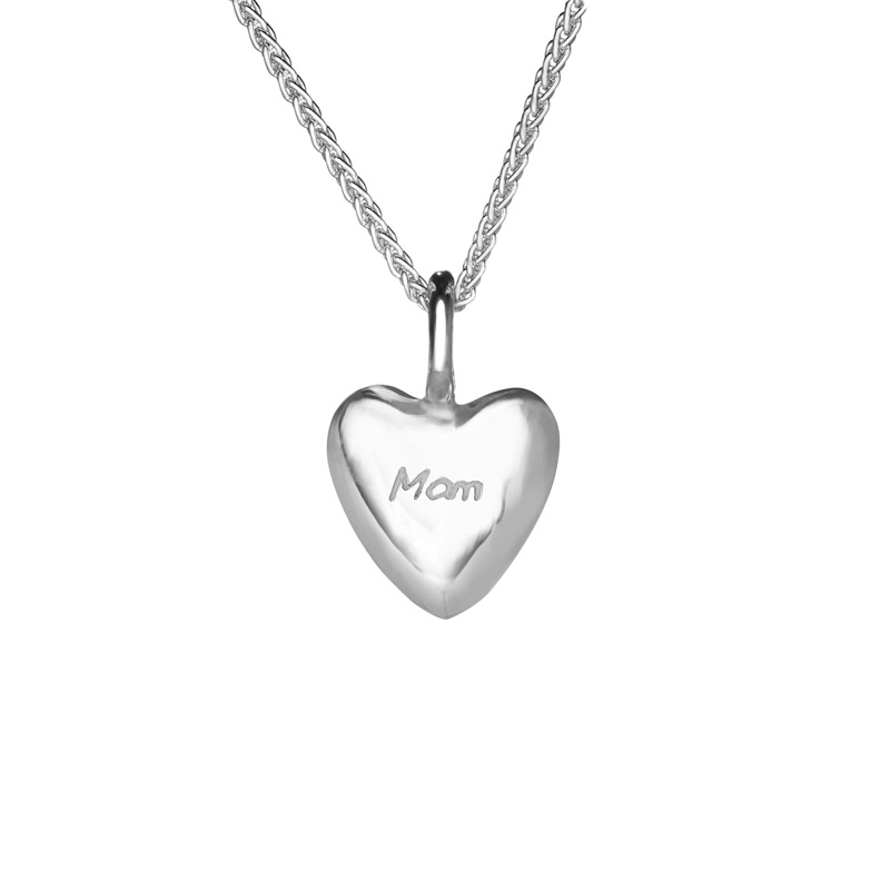 Gan Trysor Orignals Sterling Silver Tiny Mam Heart Pendant