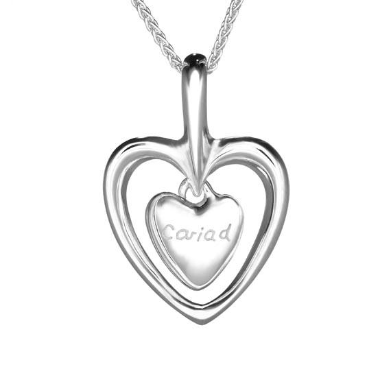 Gan Trysor Open Heart Cariad Pendant