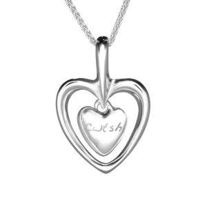 Gan Trysor Open Heart Cwtsh Pendant