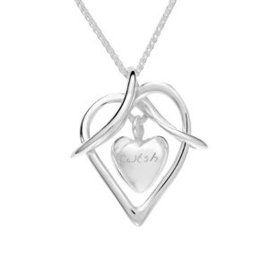 Gan Trysor Open Heart Cwtsh Celtic Pendant