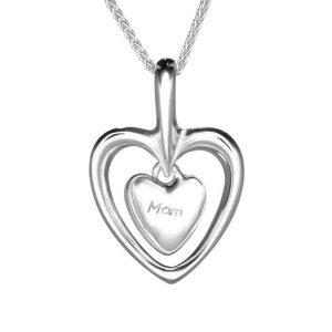 Gan Trysor Open Heart Mam Pendant