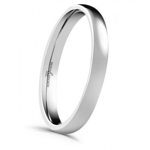 Ladies 3mm Platinum Wedding Ring
