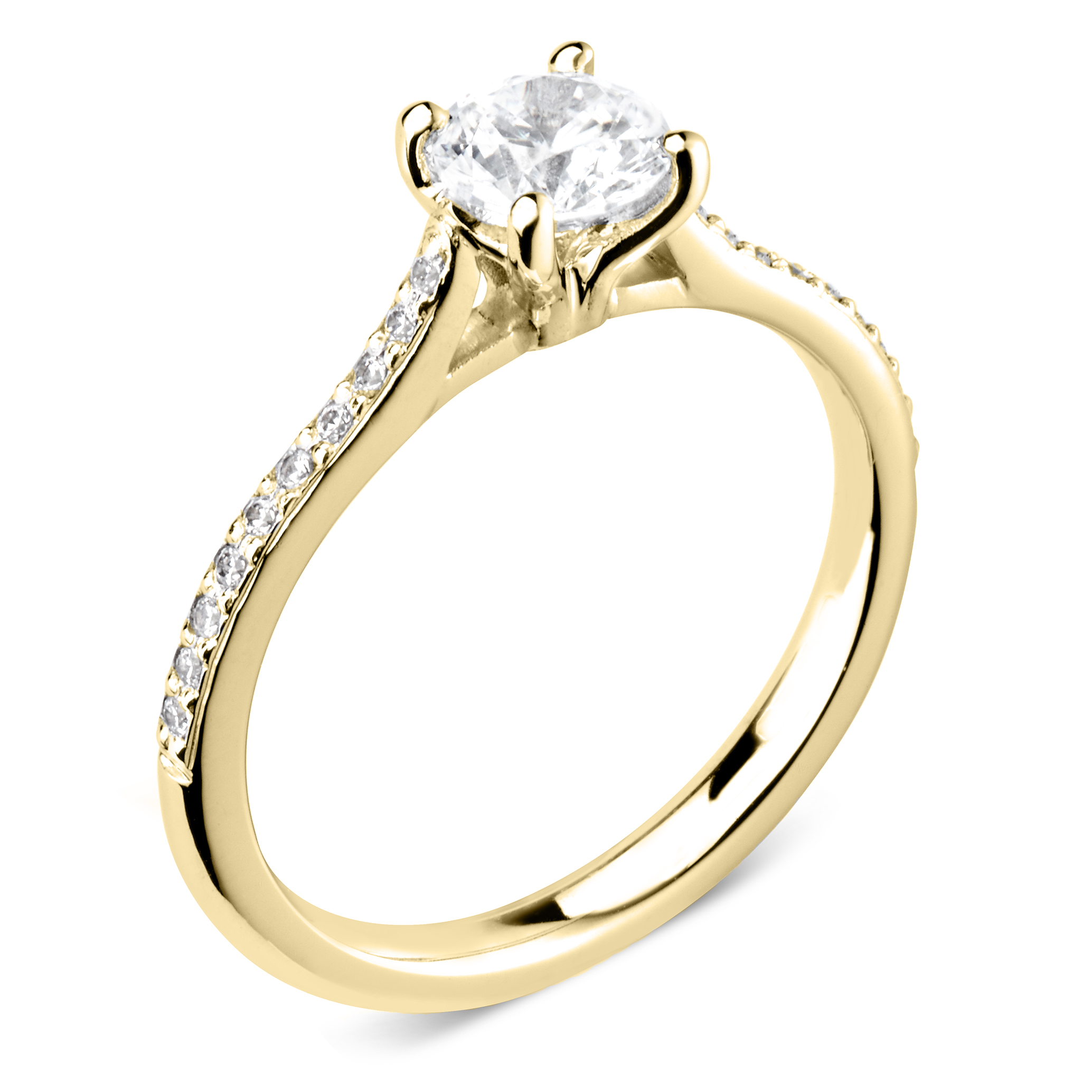 Trysor 18ct Yellow Gold Diamond Solitaire Engagement Ring