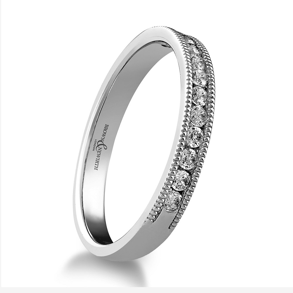 Trysor 0.20ct Diamond Channel Set Wedding Ring