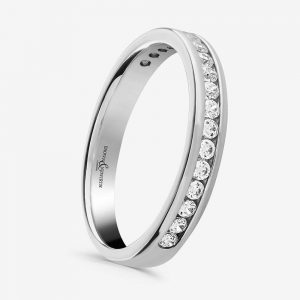 Trysor 0.20ct Diamond Set Half Eternity Wedding Ring